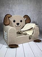 Мягкое детское кресло «Собачка», водоотталкивающая ткань