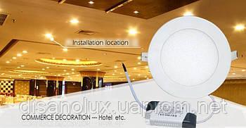 Светодиодная  LED  панель 4W 4100К  220в (КРУГ)