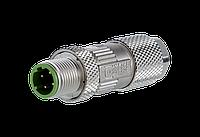 Штекер M12 D-coded IP67 Metz Connect