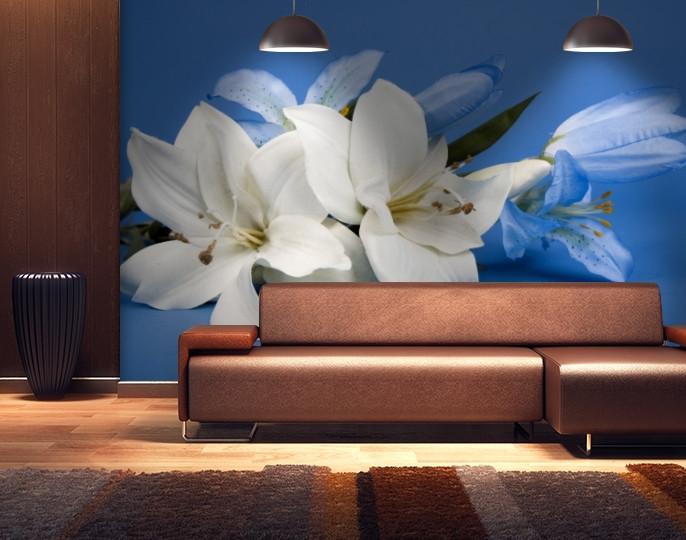 Фотообои текстурированные, виниловые Цветы, 250х380 см, fo01inV_fl102152