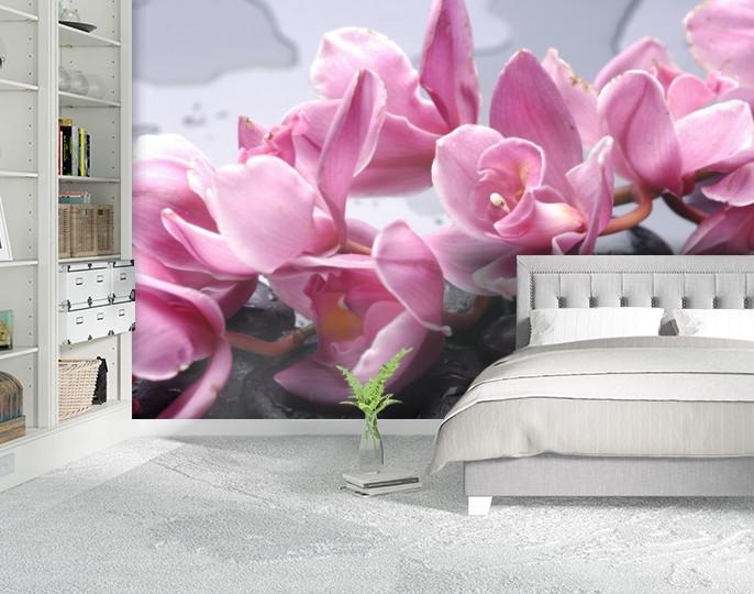 Фотообои текстурированные, виниловые Цветы, 250х380 см, fo01inV_fl12917