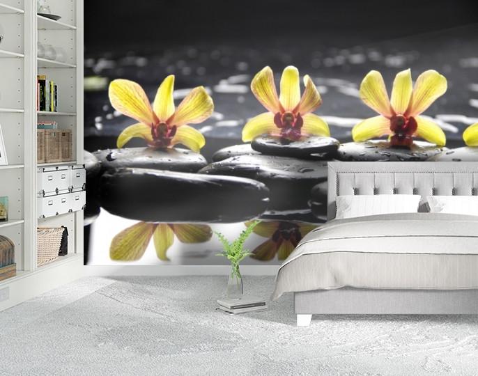 Фотообои бумажные гладь, Цветы, 200х310 см, fo01inB_fl12325