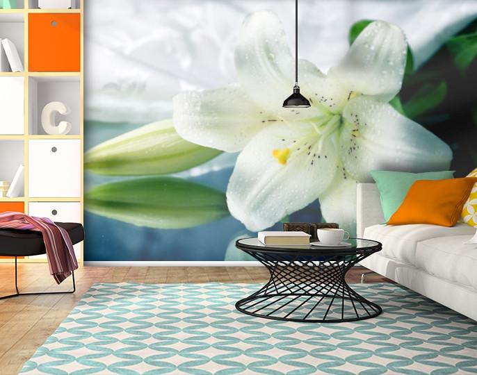 Фотообои текстурированные, виниловые Цветы, 250х380 см, fo01inV_fl102024