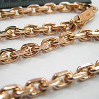 """Золотая цепочка """"Якорная""""  ручное плетение"""