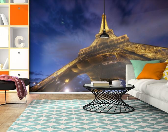 Фотообои бумажные гладь, Эйфелева башня, 200х310 см, fo01inB_ar10448