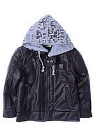 Куртка для ребёнка/мальчик 100% коттон деним Коричневый AVM Teks все размеры  7 лет