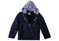 Куртка для ребёнка/мальчик 100% коттон деним Синий AVM Teks все размеры  8 лет