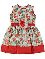 Платье для ребёнка/девочка 100% хлопок комбинированый Esmagul все размеры  8 лет (128 см)