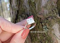 Кільце з квадратним каменем з срібла, фото 1