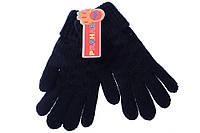 Классические перчатки ажурной вязки для девочки. Состав 100% акрил. Цвет черный Prahar. Размеры на 10-12 лет.
