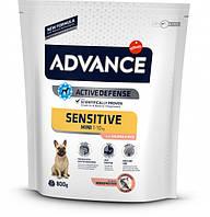 Сухой корм Advance Mini Sensitive для взрослых собак маленьких пород с чувствительным пищеварением 800 г