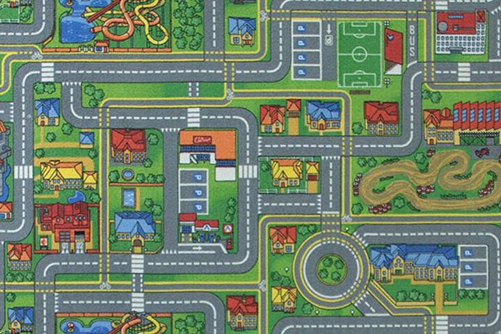 Детский ковролин с дорогами Плейсити