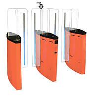 Турникет cо стеклянными прозрачными лопастями TiSO JETPAN-2 (центральная стойка)