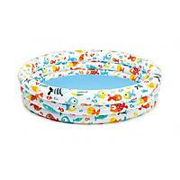 "Хороший бассейн для детей, Бассейн Intex 59431 NP ""Аквариум"" 3 кольца, объём: 248л, от 3-х лет"