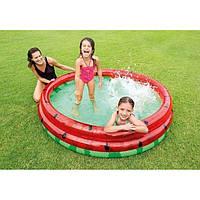 """Надувные бассейны для детей, Бассейн Intex 58448 NP """"Арбуз"""" 3 кольца, 581л от 2 лет"""