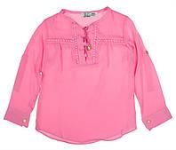 Блуза для ребёнка/девочка 70% хлопок, 30% вискоза Розовый Barbijoy все размеры  5-6 лет (110-116 см)