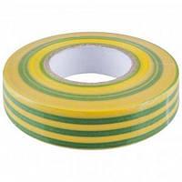 Лента изоляционная 0.13х15мм 10м желто-зеленая ИEK