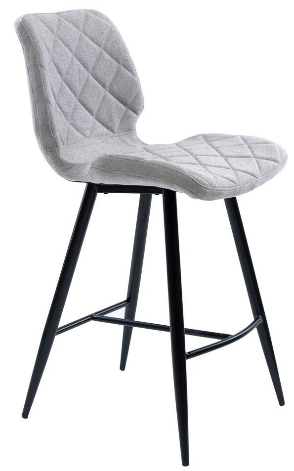 Полубарный стул Diamond светло-серый TM Concepto