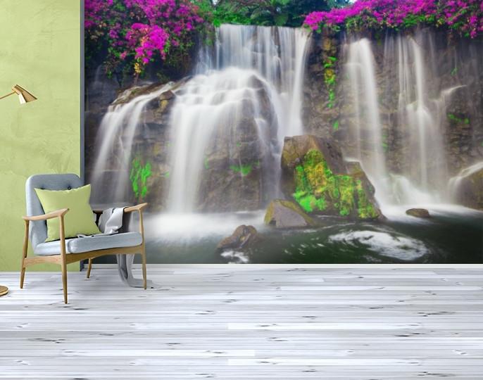 Фотообои текстурированные, виниловые Водопады, 250х380 см, fo01inV_wf00279