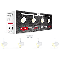 Спотовый светильник MAXUS MSL-01C 4x4W 4100K белый