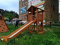 Детская игровая площадка, детский домик, горка п4