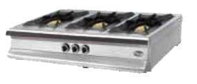 Плита 3-х конфорочная настольная М015-3N (40х40)