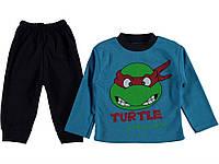 Костюм (кофта, штаны) для ребёнка/мальчик 95% хлопок 5% эластан Синий pati mini все размеры  6 мес (68 см)