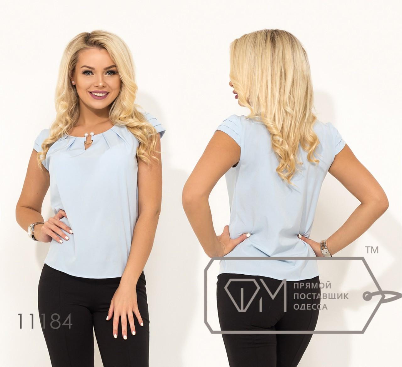 Річна блузка з прикрасою 42-48 (в кольорах)