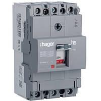 Автоматический выключатель x160, 25А, 3п, 18kA HDA025L Hager