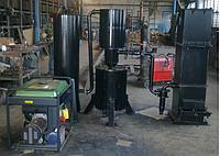 Газогенератор на твёрдом топливе с электростанцией.
