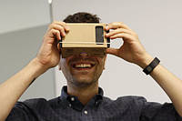 Очки виртуальной реальности GOOGLE из картона CARDBOARD. 5 ДЮЙМОВ