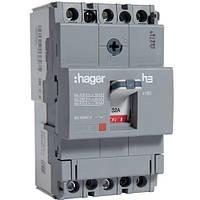 Автоматический выключатель x160 32А 3п 18kA HDA032L Hager