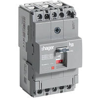 Автоматический выключатель x160 40А 3п 18k AHDA040L Hager