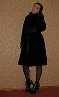 Шуба натуральная цвета горького шоколада (размер на 44-46-48)
