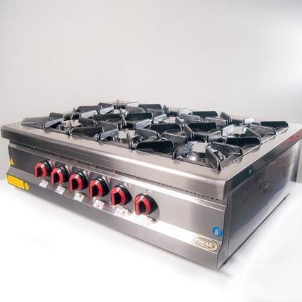 Плита Pimak газовая 6-ти конфорочная настольная MX-6A