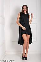 Легкое асимметричное платье свободного кроя Feder M, Black