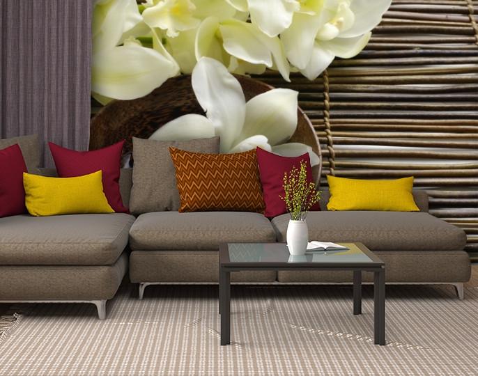 Фотообои текстурированные, виниловые Цветы, 250х380 см, fo01inV_fl13732