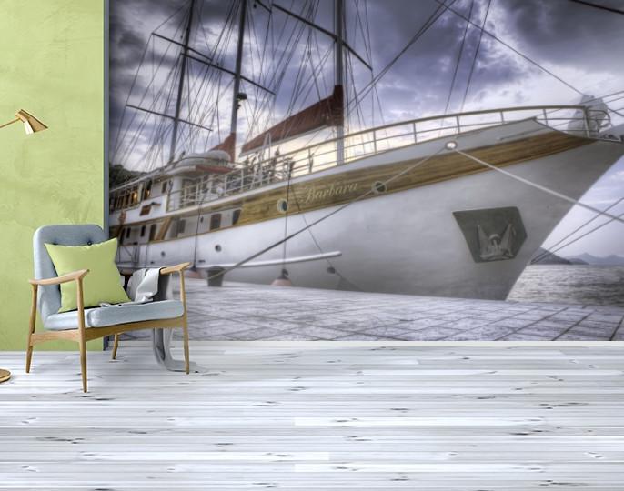 Фотообои бумажные гладь, Корабли, 200х310 см, fo01inB_av11456