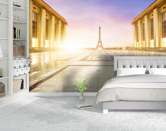 Фотообои бумажные гладь, Эйфелева башня, 200х310 см, fo01inB_ar10219