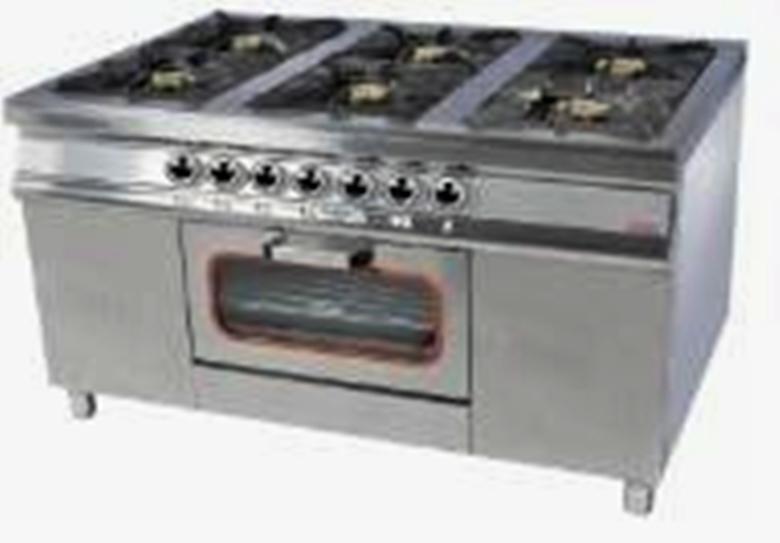 Плита 6-ти конфорочная с духовым шкафом  МО15-6(40х40)