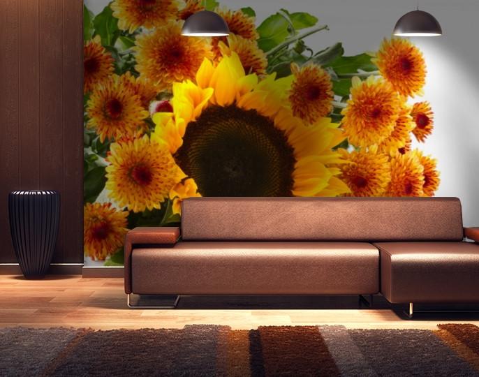 Фотообои бумажные гладь, Цветы, 200х310 см, fo01inB_fl13851
