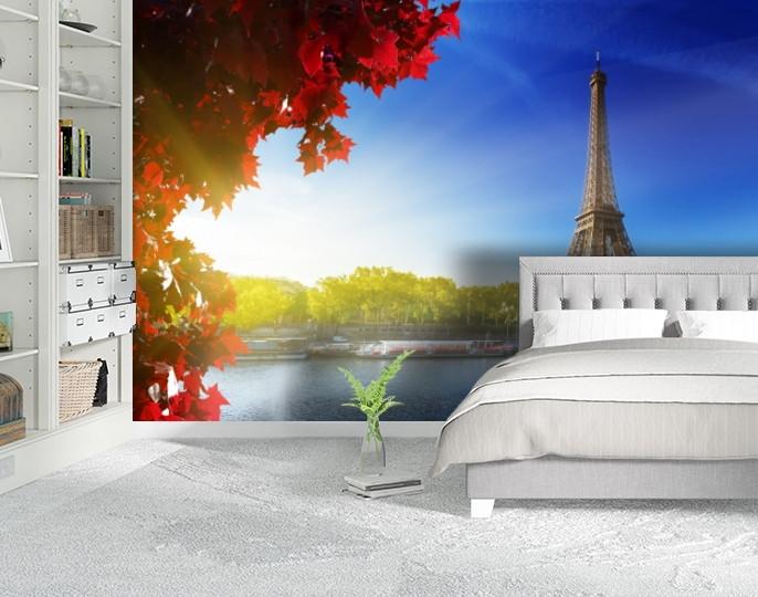 Фотообои бумажные гладь, Эйфелева башня, 200х310 см, fo01inB_ar10346