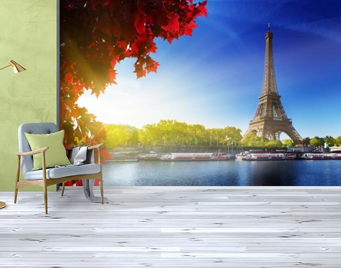 Фотообои текстурированные, виниловые Эйфелева башня, 250х380 см, fo01inV_ar10346