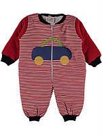 Комбинезон для ребёнка/мальчик 100% хлопок Красный Elifx все размеры  80 см