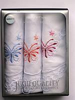Набор женских носовых платков Fazzoletto 100% хлопок Quality в подарочной упаковке
