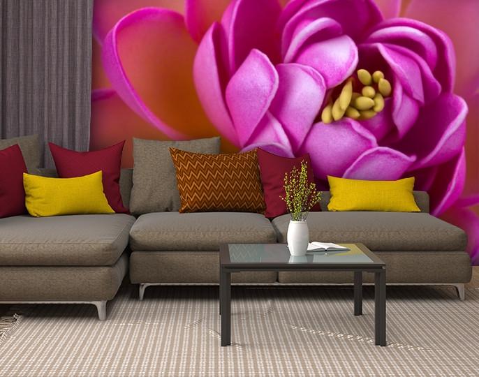 Фотообои текстурированные, виниловые Цветы, 250х380 см, fo01inV_fl13245