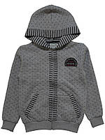 Кофта для ребёнка/мальчик 96%хлопок, 4% эластан серый Yuko все размеры  164 см