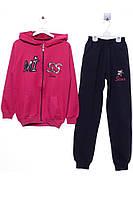 Спортивный костюм для ребёнка/девочка 90 % хлопок, 10% лайкра малиновый Yuko все размеры  14 лет (164 см)
