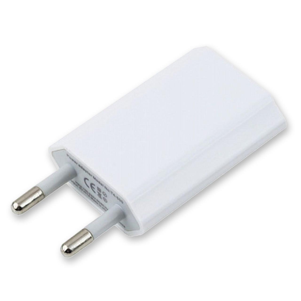 Сетевое зарядное устройство USB Power adapter 1A (Белый)