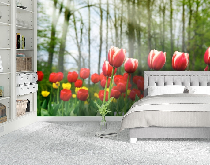Фотообои текстурированные, виниловые Цветы, 250х380 см, fo01inV_fl12624